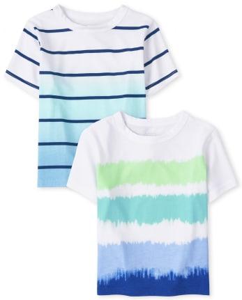 Pack de 2 camisetas de rayas para bebés y niños pequeños