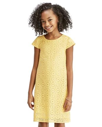 Girls Mommy And Me Daisy Lace Matching Shift Dress