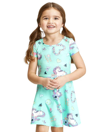 Baby And Toddler Girls Print Skater Dress