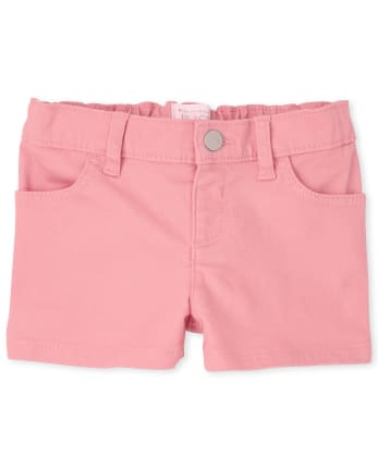 Baby And Toddler Girls Twill Shortie Shorts