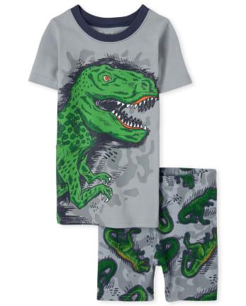 Boys Dino Snug Fit Cotton Pajamas