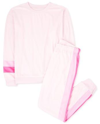 Pijama de terciopelo a rayas para mujer Mommy And Me