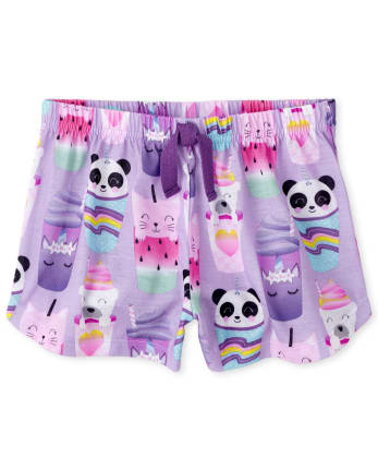 Girls Animal Frappe Pajama Shorts