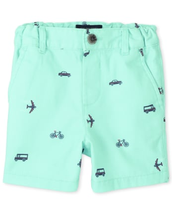 Baby And Toddler Boys Transportation Chino Shorts