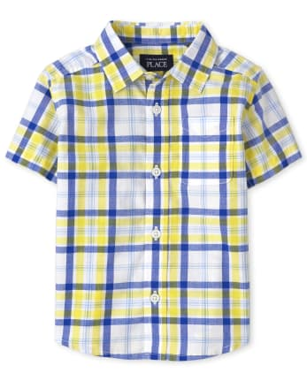 Baby And Toddler Boys Dad And Me Plaid Poplin Button Down Shirt