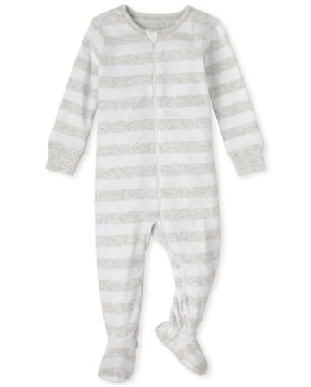 Unisex Baby And Toddler Matching Family Striped Snug Fit Cotton One Piece Pajamas