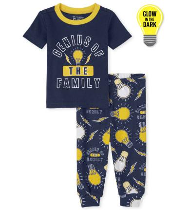 Baby And Toddler Boys Glow Genius Snug Fit Cotton Pajamas