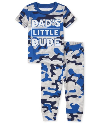 Baby And Toddler Boys Camo Snug Fit Cotton Pajamas