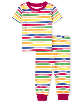 Unisex Baby And Toddler Matching Family Striped Snug Fit Cotton Pajamas