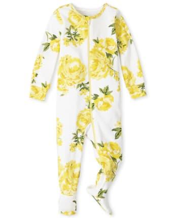 Pijama de una pieza de algodón con ajuste ceñido y estampado floral para bebés y niñas pequeñas Mommy And Me