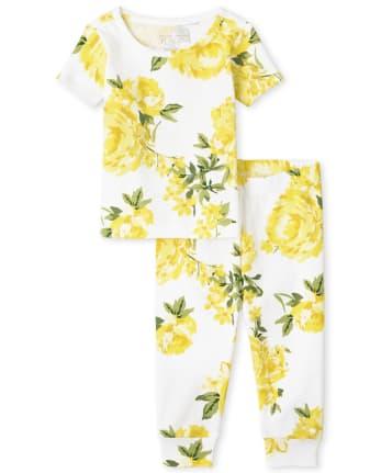 Pijamas de algodón ajustados a juego con estampado floral Mommy And Me para bebés y niñas pequeñas
