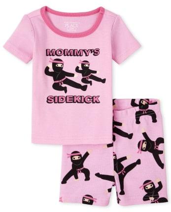 Baby And Toddler Girls Ninja Snug Fit Cotton Pajamas