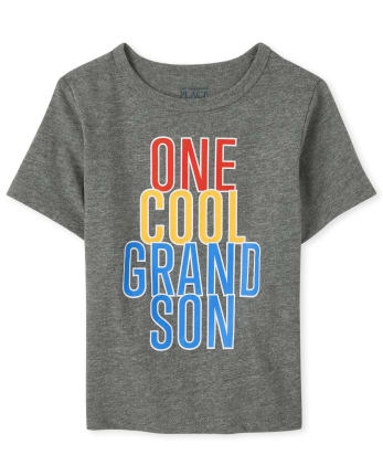 Baby And Toddler Boys Cool Grandson Graphic Tee