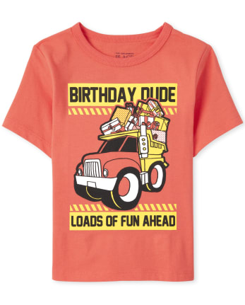 Baby And Toddler Boys Birthday Dude Graphic Tee