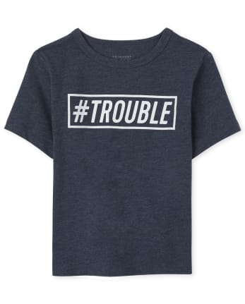 Baby And Toddler Boys Dad And Me Trouble Graphic Tee