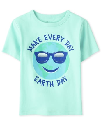 Baby And Toddler Boys Earth Day Graphic Tee