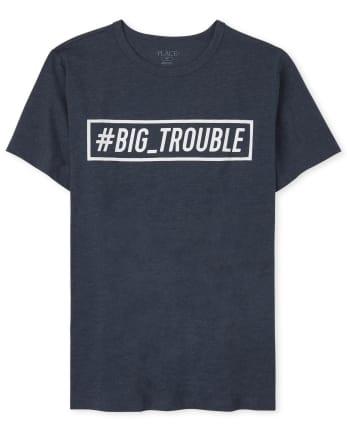 Camiseta estampada Dad And Me Trouble para hombre