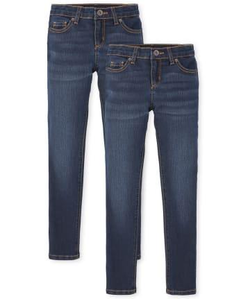 Girls Basic Super Skinny Jeans 2-Pack