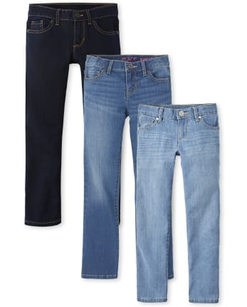 Girls Basic Skinny Jeans 3-Pack