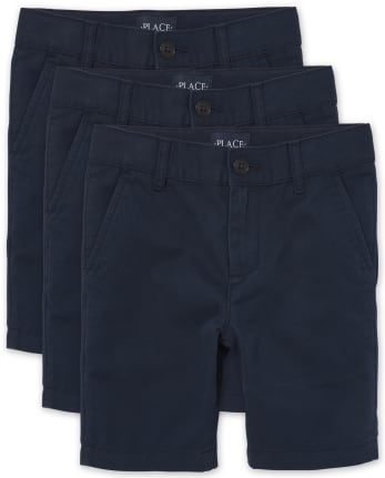 Boys Uniform Stretch Chino Shorts 3-Pack