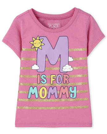 Baby And Toddler Girls M Is For Mommy Graphic Tee