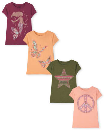 Girls Trend Graphic Tee 4-Pack