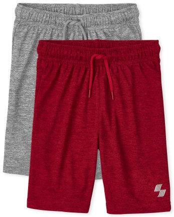 Boys Marled Performance Basketball Shorts 2-Pack