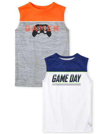 Boys Performance Muscle Tank Top 2-Pack