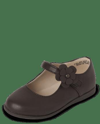 Zapatos flexibles de confort uniforme para niñas pequeñas