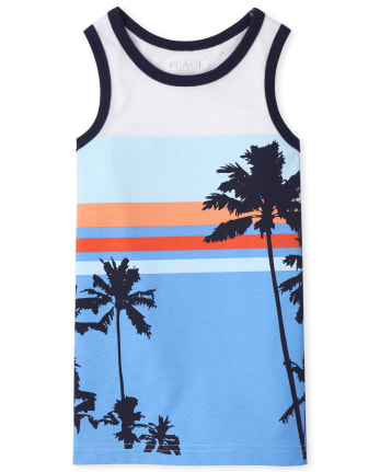 Boys Palm Tree Tank Top