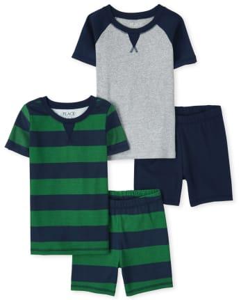 Boys Snug Fit Cotton Pajamas 2-Pack