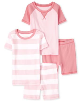 Girls Snug Fit Cotton Pajamas 2-Pack