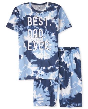 Mens Matching Family Tie Dye Cotton Pajamas