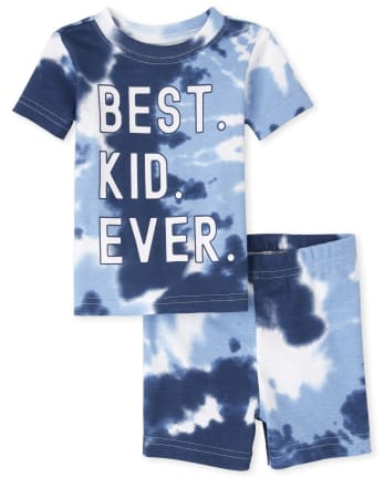 Baby And Toddler Boys Matching Family Tie Dye Snug Fit Cotton Pajamas
