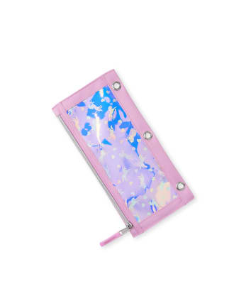 Girls Unicorn Holographic Pencil Case