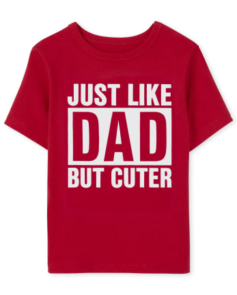 Baby And Toddler Boys Just Like Dad Graphic Tee