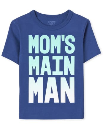 Baby And Toddler Boys Mom's Man Graphic Tee