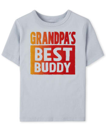 Baby And Toddler Boys Grandpa's Buddy Graphic Tee