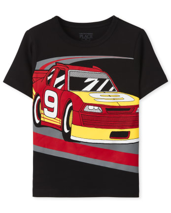 Baby And Toddler Boys Race Car Graphic Tee