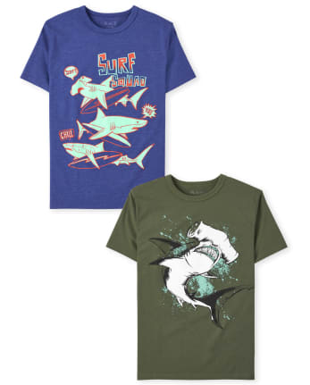 Boys Shark Graphic Tee 2-Pack