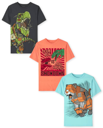 Boys Robot Graphic Tee 3-Pack