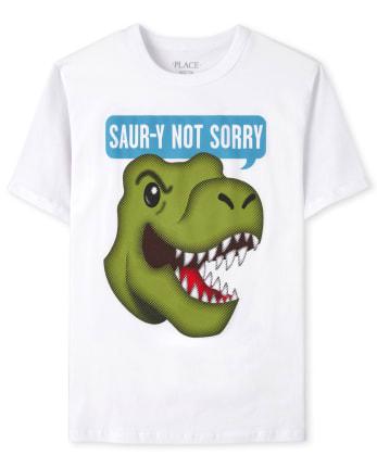 Boys Sorry Dino Graphic Tee