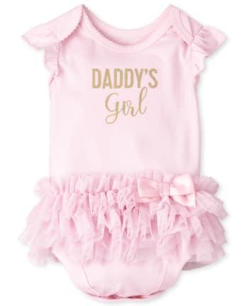 Baby Girls Daddy's Girl Tutu Bodysuit