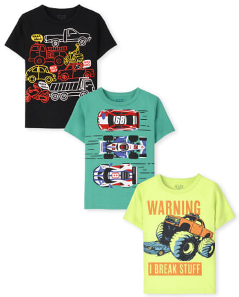 Toddler Boys Cars Graphic Tee 3-Pack