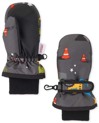 Toddler Boys Transportation Ski Mittens