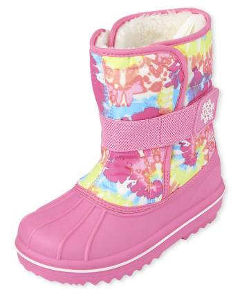 Girls Tie Dye Snow Boots