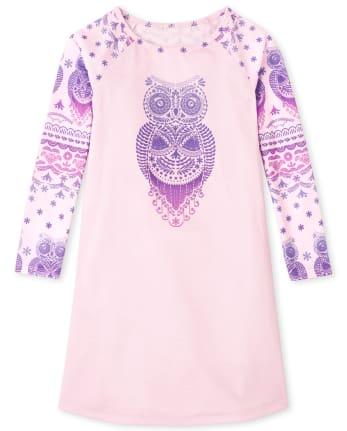 Girls Owl Nightgown