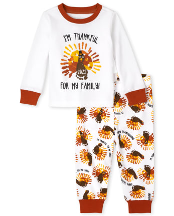 Unisex Baby And Toddler Thanksgiving Snug Fit Cotton Pajamas