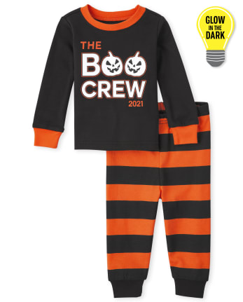 Unisex Baby And Toddler Glow Boo Crew Snug Fit Cotton Pajamas