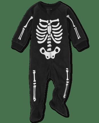 Pyjama une pièce en molleton unisexe assorti pour bébé et tout-petit